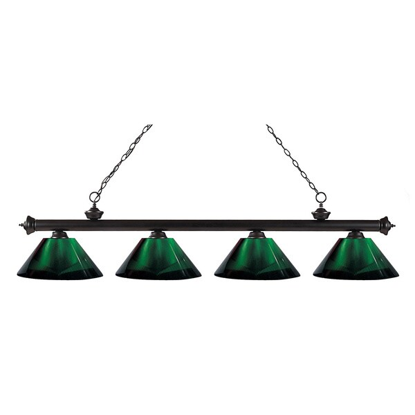 Avery Home Lighting 4-light Riviera Bronze Green Billiard Fixture