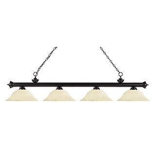 Z-Lite 4-light Riviera Bronze Golden Mottle Billiard Fixture