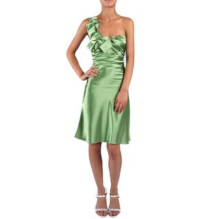 DFI Women's Charmeuse One-shoulder Evening Dress