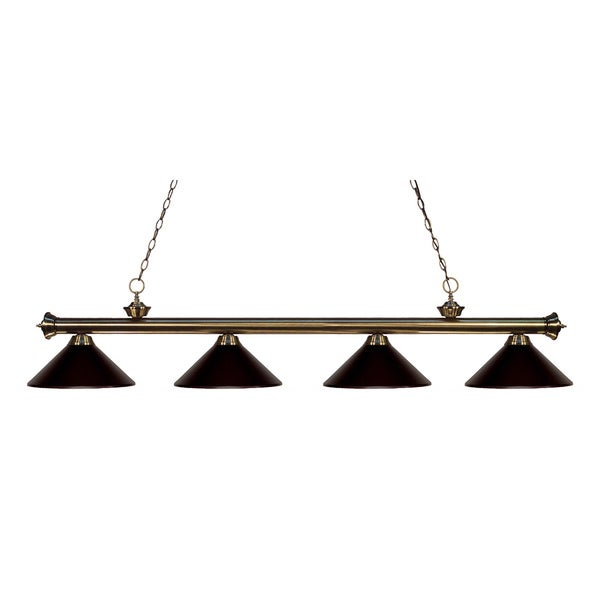 Z-lite 4-light Riviera Antique Brass Bronze Billiard Fixture