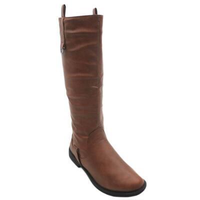 Blue Women's 'Walken-2' Knee-high Pull Tab Boots