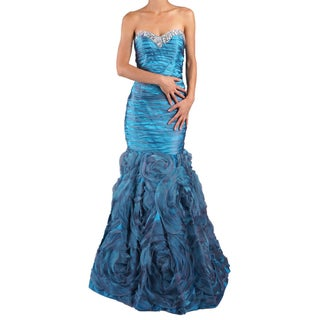 DFI Women's Mermaid Shirred Evening Gown (More options available)