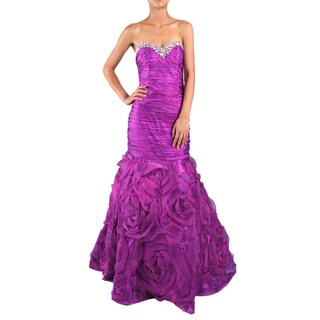 Link to DFI Women's Mermaid Shirred Evening Gown Similar Items in Dresses