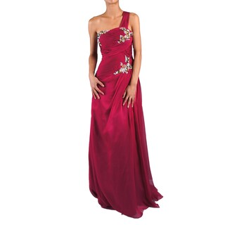 DFI Women's Single Strap Jeweled Evening Gown (More options available)