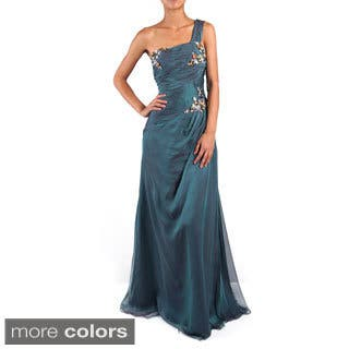 DFI Women's Single Strap Jeweled Evening Gown|https://ak1.ostkcdn.com/images/products/9547552/P16728305.jpg?impolicy=medium