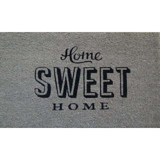 First Impression PVC Tufted Coir Home Sweet Home Design Doormat