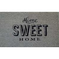 First Impression PVC Tufted Coir Home Sweet Home Design Doormat (1'6 x 2'6)