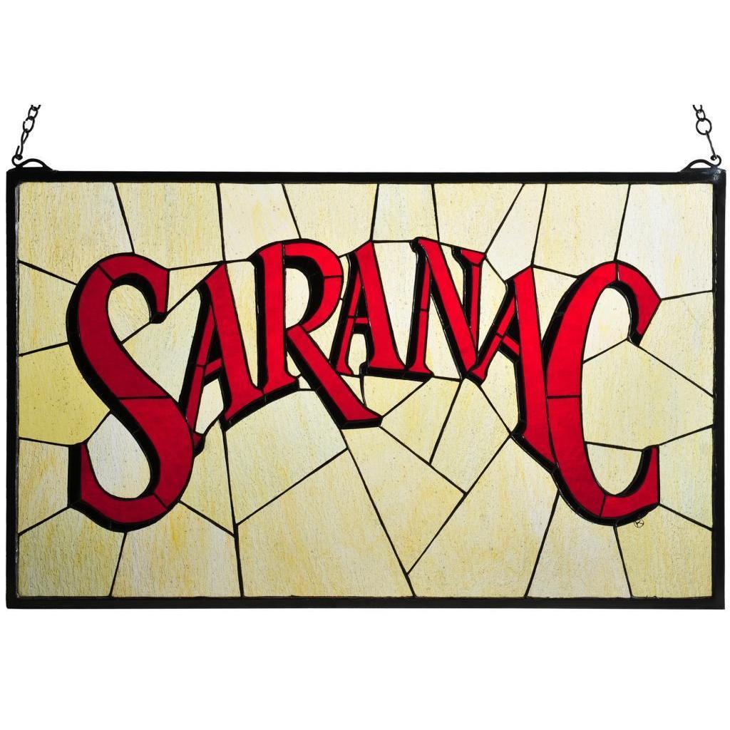 Meyda Tiffany Saranac Stained Glass Window Panel (Saranac...