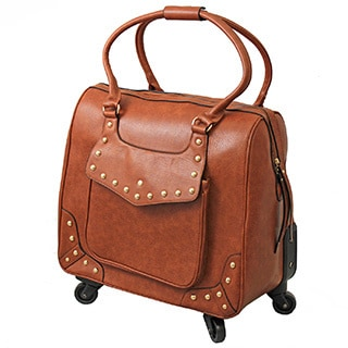 Hang Accessories Urban Ranch Cognac Rolling 15-inch Laptop Tote