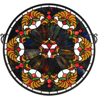 Saffron Middleton Medallion Stained Glass Window