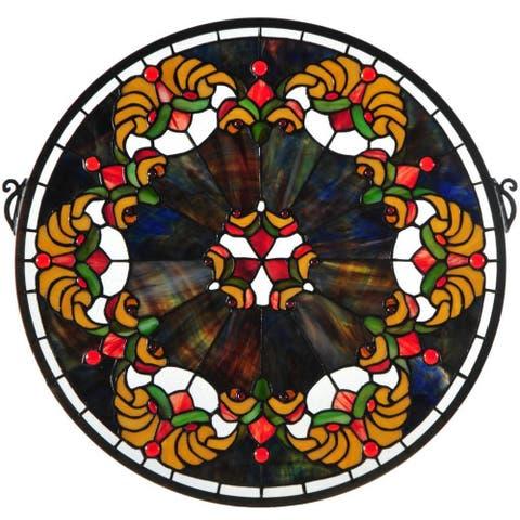 Saffron Middleton Medallion Stained Glass Window