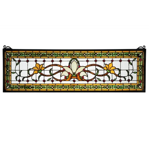 Saffron Fairytale Transom Stained Glass Window Panel - n/a