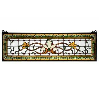 Saffron Fairytale Transom Stained Glass Window Panel