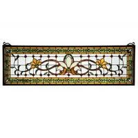 Saffron Fairytale Transom Stained Glass Window Panel
