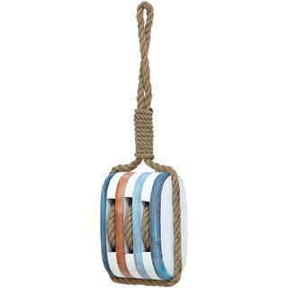 Wood Rope Nautical Decor with Fine Detail and Bright Color