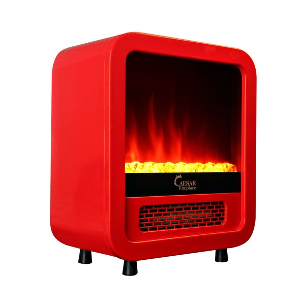 caesar hardware mini portable electric fireplace