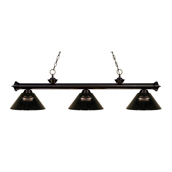 Z-lite 3-light Riviera Bronze Smoke Billiard Fixture