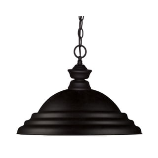 Z-lite 1-light Matte Black Pendant Fixture