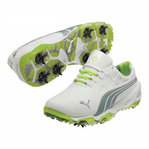 Puma Men's Biofusion White/ Grey/ Fluorescent Yellow Golf Shoes