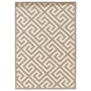 Linon Silhouette Grey/ White Area Rug (8' x 10')