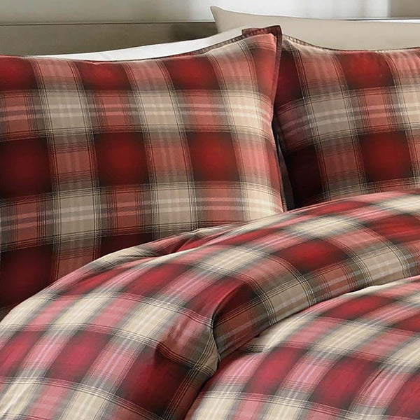 Eddie Bauer Navigation 3 Piece Plaid Cotton Comforter Set