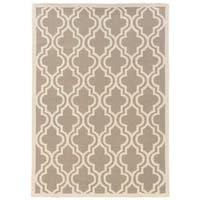 Linon Silhouette Grey/ White Area Rug (5' x 7')