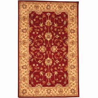 Handmade Herat Oriental Persian Indo Tabriz Wool Rug - 5' x 8' (India)