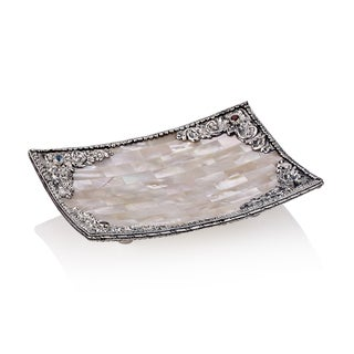 Neda Behnam Home Decor Sterling Silver Mother of Pearl Centerpiece Dish