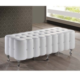 Baxton Studio Constellations Uphostered Cystal Button Tufted Modern Bench