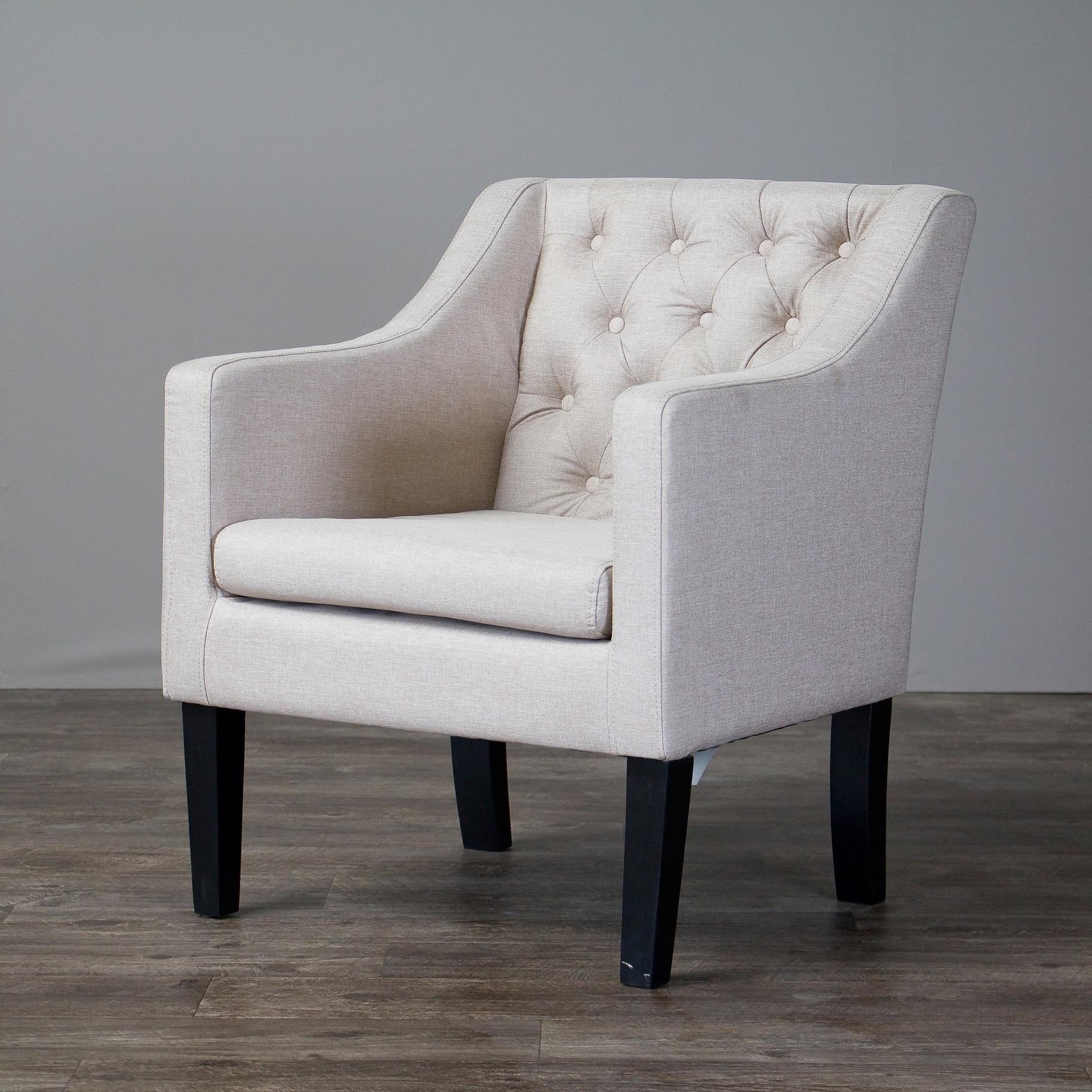 Laurel Creek Larkin Upholstered Button Tufted Modern Club Chair (Option: Club  Chair
