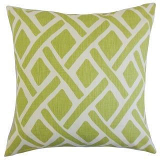 Satchel 18-inch Feather and Down Filled Geometric New Leaf Throw Pillow