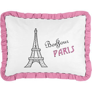 French Eiffel Tower Pillow Sham for Paris Bedding Set Collection by Sweet Jojo Designs
