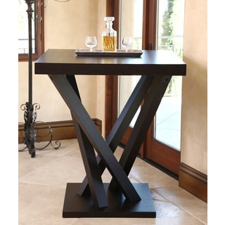 Abbyson Cosmo Espresso Wood Square Bar Table