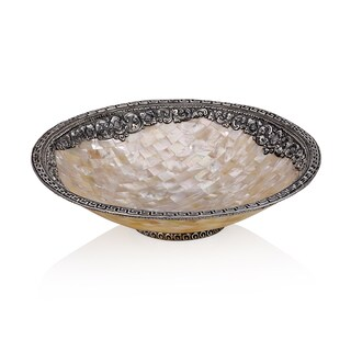 Neda Behnam Sterling Silver Mother of Pearl Round Dish