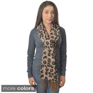 LA77 Soft Leopard Scarf