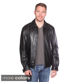 Christian Reed Men's Walden Leather Bomber Jacket