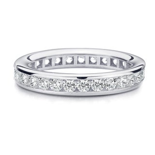 Amore Platinum 1ct TDW Channel Set Diamond Wedding Band (More options available)
