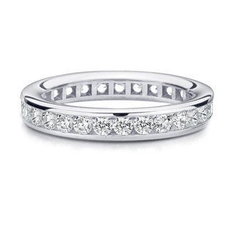 Amore Platinum 1ct TDW Channel Set Diamond Wedding Band (G-H, SI1-SI2)