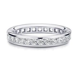 Amore Platinum 1ct TDW Channel Set Diamond Wedding Band