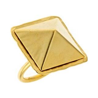 Bita Pourtavoosi Goldtone Pyramid Ring