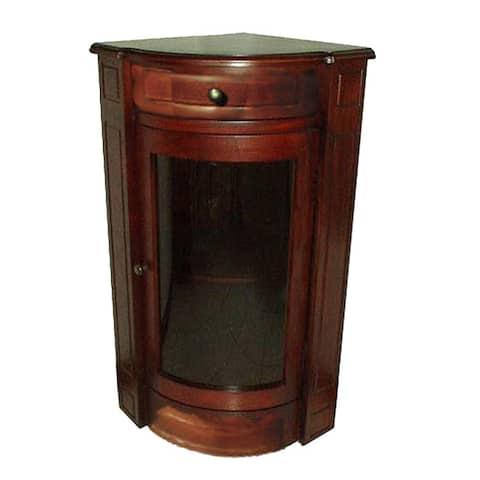 Handmade Corner Glass Short Cabinet (Indonesia)