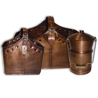 Deeco Copper Basket Set