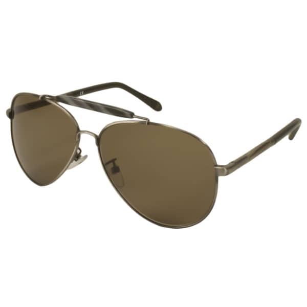 1bdfa9343c5 Shop Givenchy Men s  Unisex SGV461 Aviator Sunglasses - Free ...