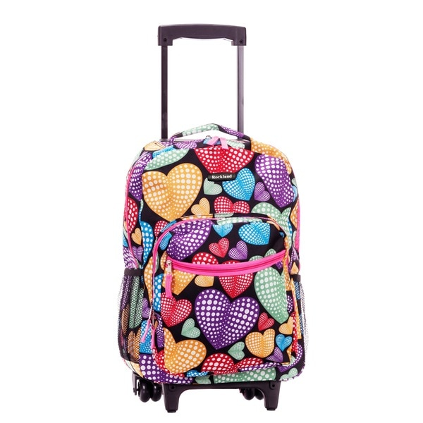 Rockland New Heart 17-inch Rolling Carry-on Backpack
