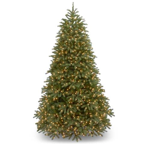 0db547292 7.5-foot  Feel-Real  Jersey Fraser Fir Medium Hinged Tree with 1000