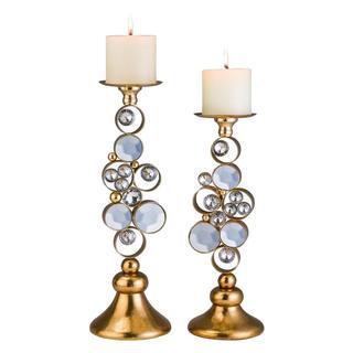 Gold Malha Candleholder Set
