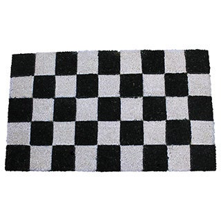 First Impression PVC Tufted Check Design Coir Mat (1'6 x 2'6)
