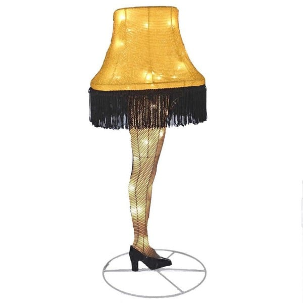 28 Inch Leg Lamp Tinsel Lighted Lawn