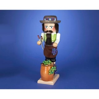 Kurt Adler 17-inch Steinbach Wind-Up Musical Winemaker Nutcracker