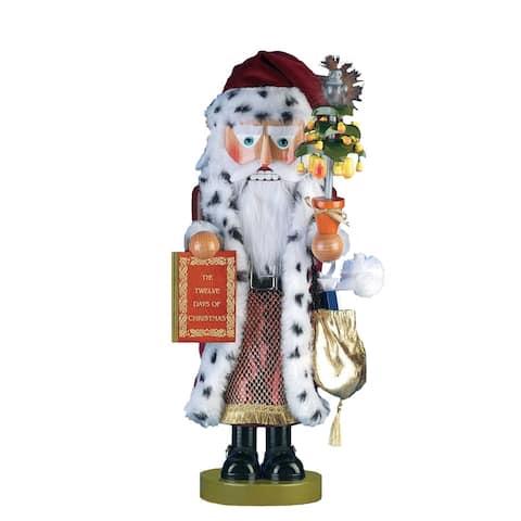 Kurt Adler 17.5-Inch Limited Edition Steinbach Twelve Days of Christmas Musical Pear Tree Santa Nutcracker